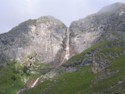 Waterfall seen from the track from Balsiglia